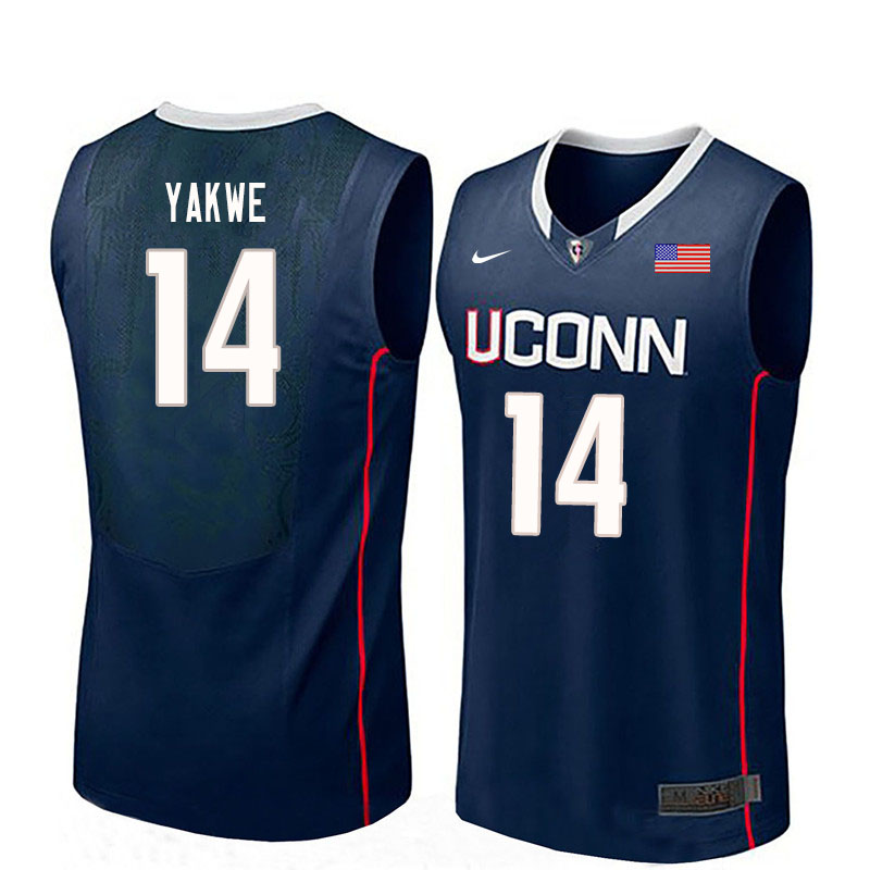 Men #14 Kassoum Yakwe Uconn Huskies College Basketball Jerseys Sale-Navy