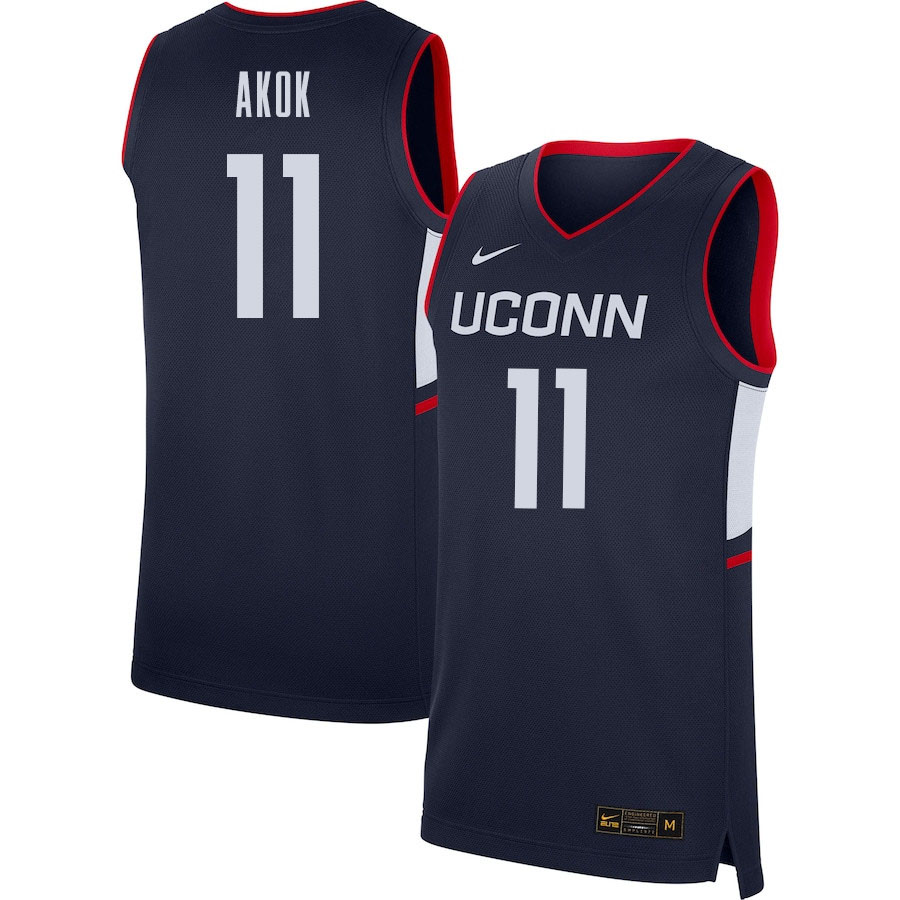 2021 Men #11 Akok Akok Uconn Huskies College Basketball Jerseys Sale-Navy