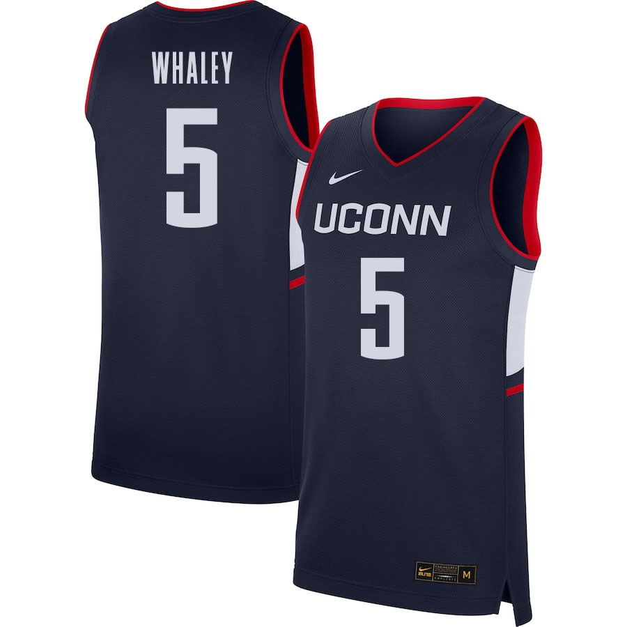 2021 Men #5 Isaiah Whaley Uconn Huskies College Basketball Jerseys Sale-Navy