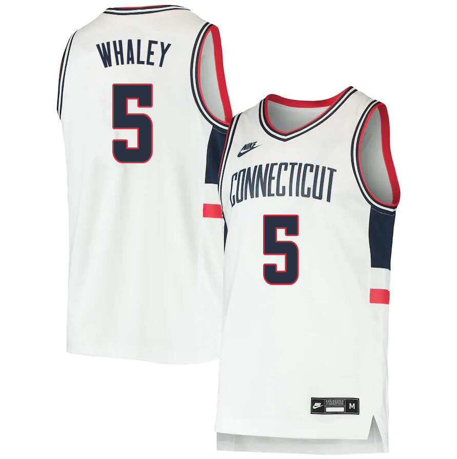 2021 Men #5 Isaiah Whaley Uconn Huskies College Basketball Jerseys Sale-Throwback
