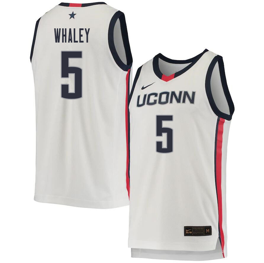 2021 Men #5 Isaiah Whaley Uconn Huskies College Basketball Jerseys Sale-White