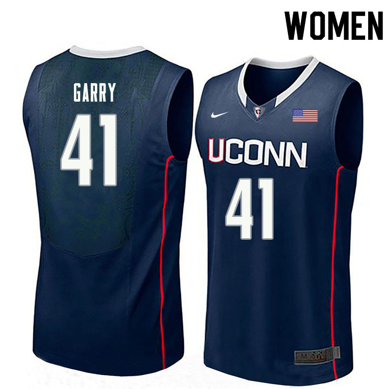 Women #41 Matt Garry Uconn Huskies College Basketball Jerseys Sale-Navy