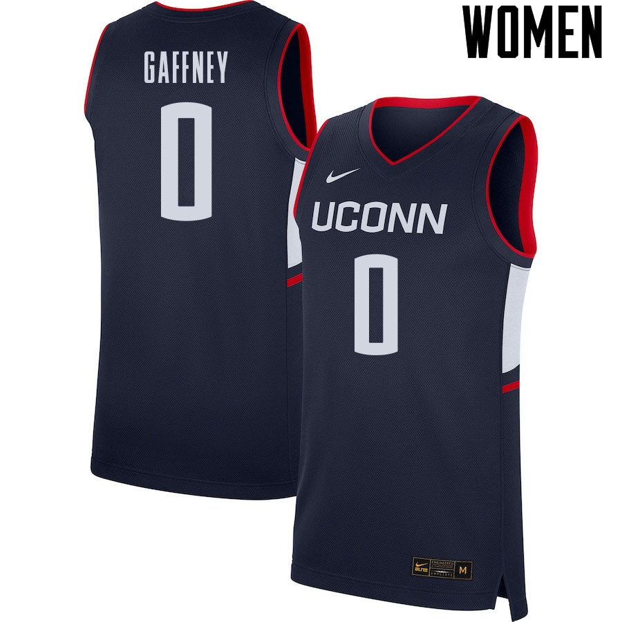 2021 Women #0 Jalen Gaffney Uconn Huskies College Basketball Jerseys Sale-Navy