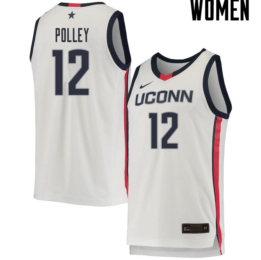 2021 Women #12 Tyler Polley Uconn Huskies College Basketball Jerseys Sale-White