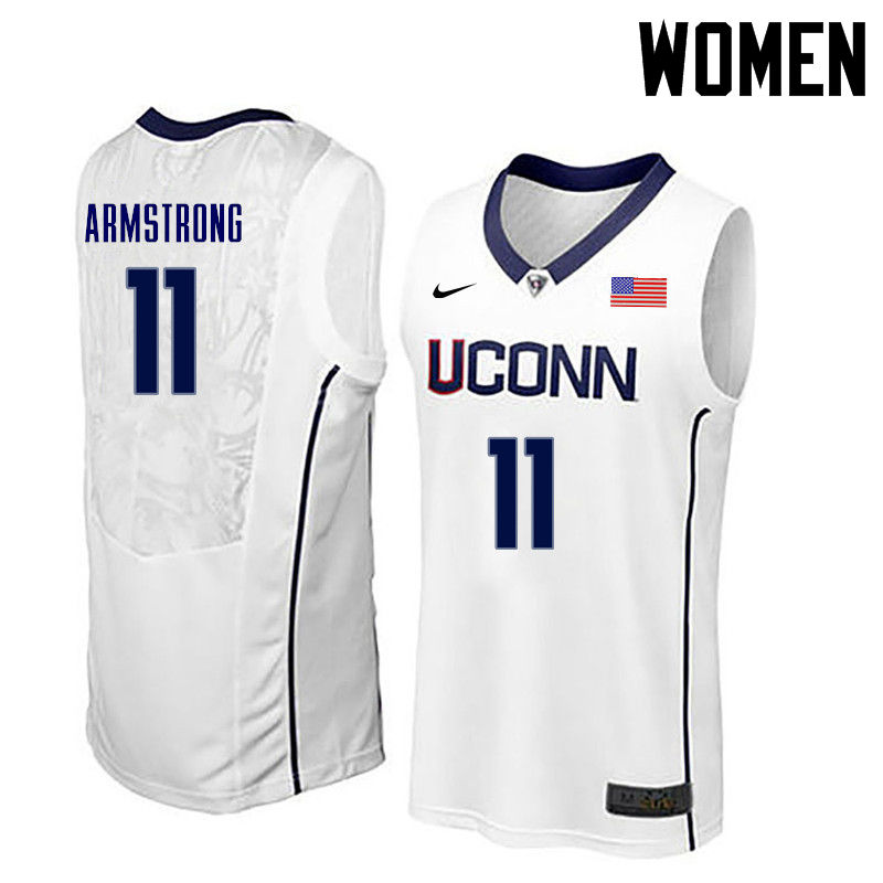 Women Uconn Huskies #11 Hilton Armstrong College Basketball Jerseys-White