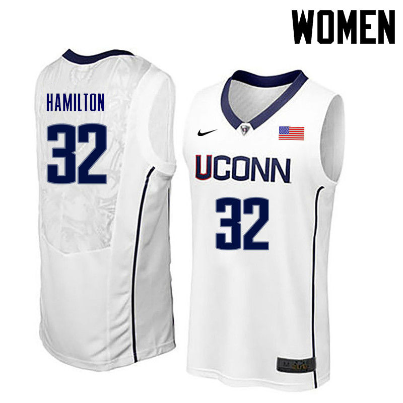 Women Uconn Huskies #32 Richard Hamilton College Basketball Jerseys-White