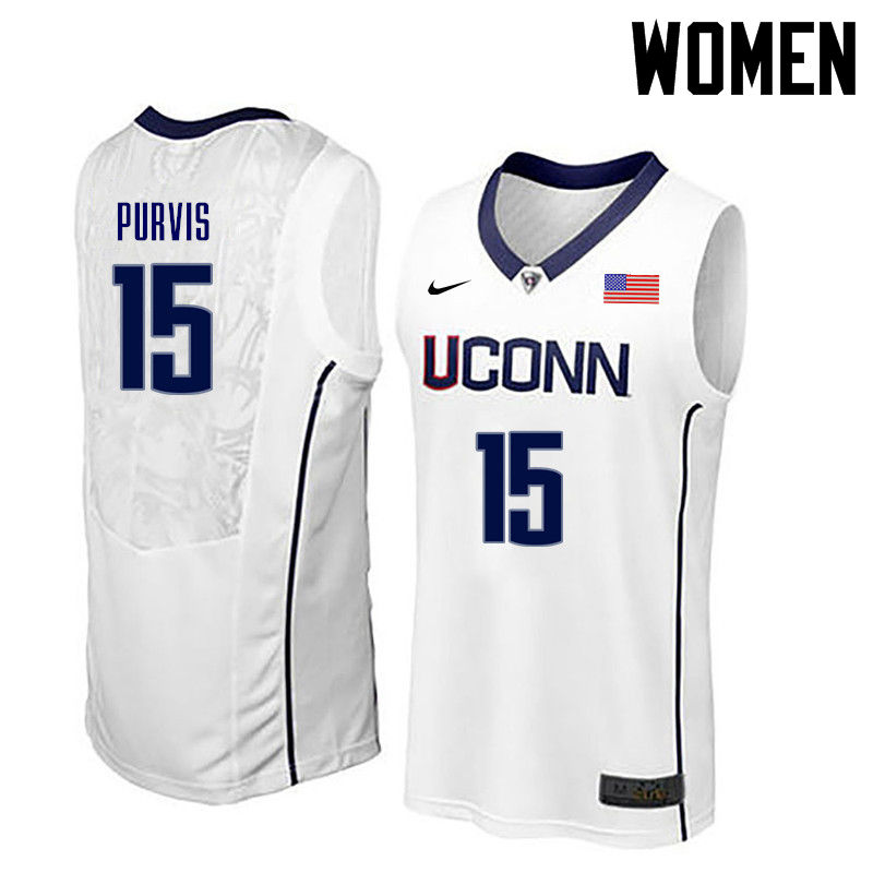 Women Uconn Huskies #15 Rodney Purvis College Basketball Jerseys-White