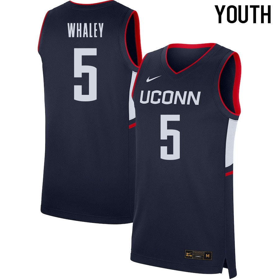 2021 Youth #5 Isaiah Whaley Uconn Huskies College Basketball Jerseys Sale-Navy