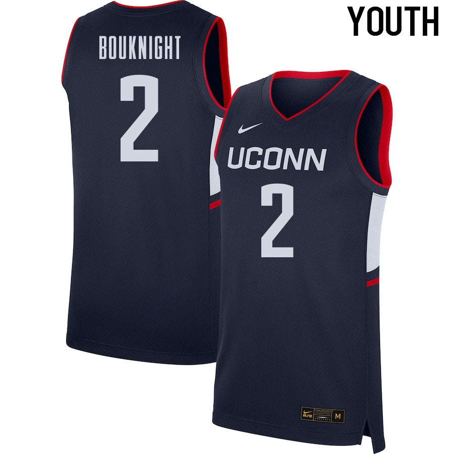 2021 Youth #2 James Bouknight Uconn Huskies College Basketball Jerseys Sale-Navy