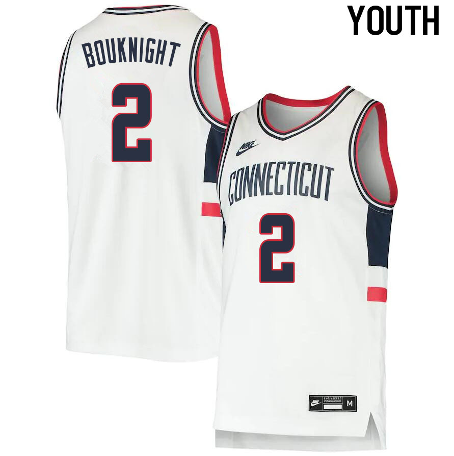 2021 Youth #2 James Bouknight Uconn Huskies College Basketball Jerseys Sale-Throwback