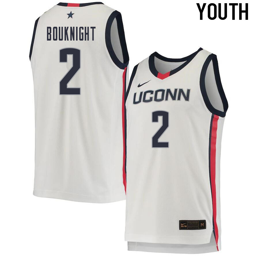 2021 Youth #2 James Bouknight Uconn Huskies College Basketball Jerseys Sale-White
