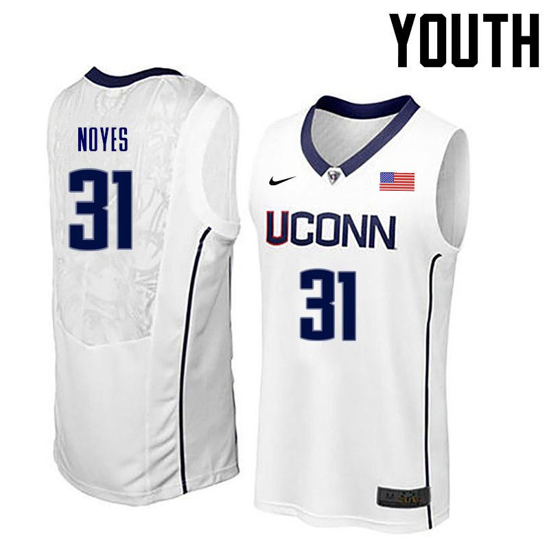 Youth Uconn Huskies #31 Mike Noyes College Basketball Jerseys-White