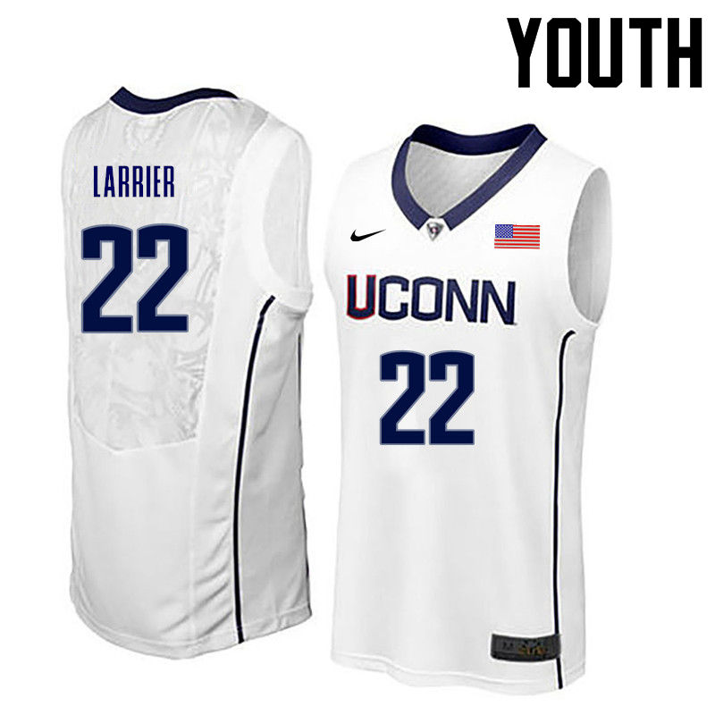 Youth Uconn Huskies #22 Terry Larrier College Basketball Jerseys-White